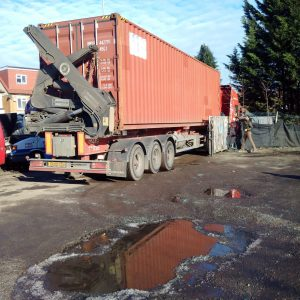 Container arriving at the yard of one of our Brothers on 19th January 2016.